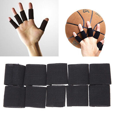 10Pcs Stretchy Finger Protector Sleeve Support Arthritis Aid Straight Wrap Fruga