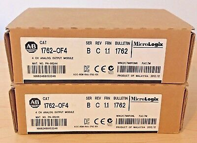 New Sealed Allen Bradley 1762-OF4 1762-0F4 MicroLogix 1200 Output Module