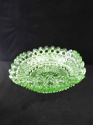 Vintage Square Green Pressed Glass Bowl