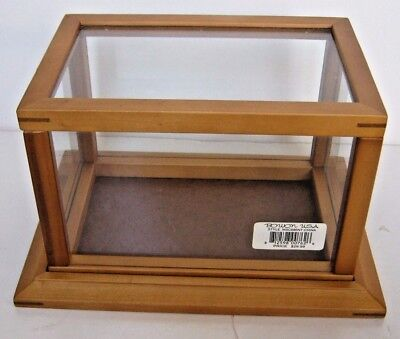 "Wooden & Glass Display Box Case 6.25"" Tall x 11"" Long  x Wide x 8"" Deep"
