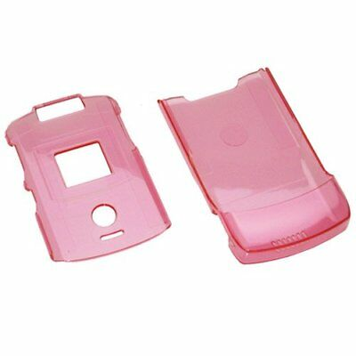 half off cb564 97d9d MOTOROLA RAZR V3 V3c V3m Snap On ProGuard Case Clear Pink