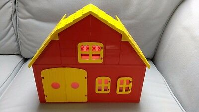Vintage Lego Duplo Barn with opening doors, windows, and roof