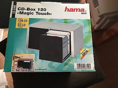 hama cd dvd box st nder aufbewahrung f r 100 cd box. Black Bedroom Furniture Sets. Home Design Ideas