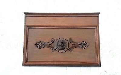 Vintage Header Pediment Entryway Mantle  Interior Wall Accent