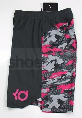 Nike Boy's KD Kevin Durant Pink Camo Breast Cancer Basketball Shorts 629955 060