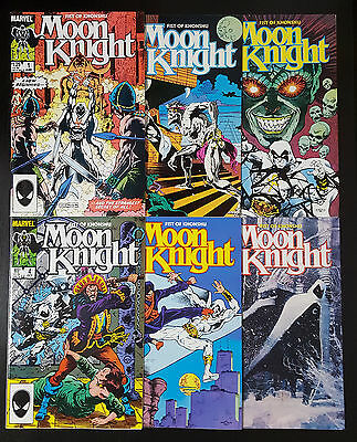 Moon Knight: Fist of Khonshu #1-6 Complete Set (1985 Marvel) Full Limited Series