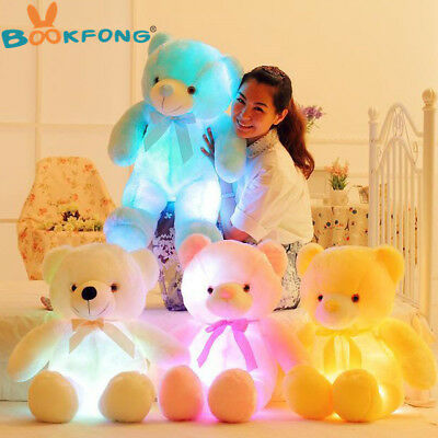 BOOKFONG 50cm Creative Light Up LED Teddy Bear Stuffed Animal Plush Toy Colorful