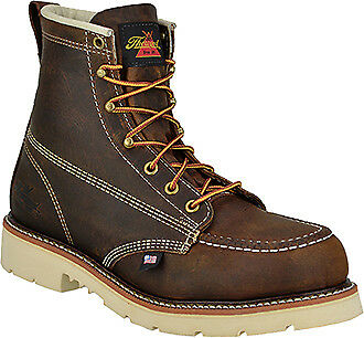 """Thorogood 814-4375 6"""" US Made EH Rated Moc Toe White Sole American Heritage Boot"""
