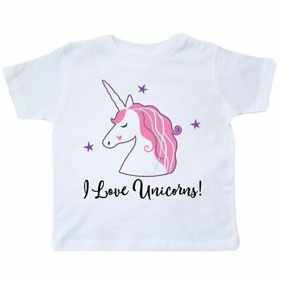 21a406f82 Inktastic Unicorn Girls Cute Fantasy Gift Toddler T-Shirt Lover I Love  Unicorns