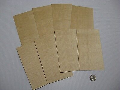 1 Lot Of 8Pcs Maple Raw Veneer Shorts, Lot #751