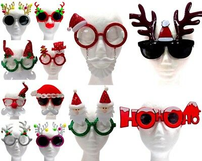 NEW Adults Christmas Novelty Glasses Xmas Party Costume Photo Booth Props Santa
