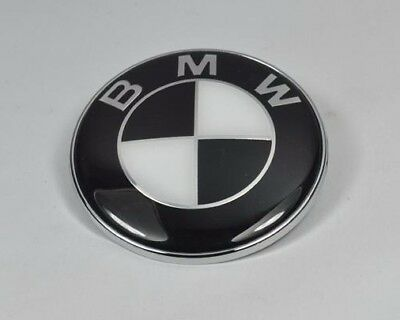 Bmw Black White 82mm Boot Bonnet Badges For E46 E39