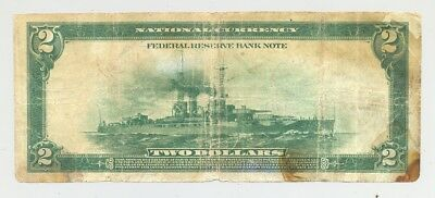 Fr. 750 New York issued Battleship $2 Series 1918 Federal Reserve Bank Note