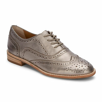 G.H. Bass & Co. Womens Erica Genuine Leather Wingtip Lace-up Oxford Shoe