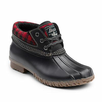 G.H. Bass & Co. Women's Dorothy Leather Waterproof Duck Boot Red/Black Plaid
