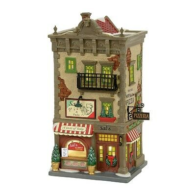 "Dept 56 Christmas in the City ""SAL'S PIZZA & PASTA"" NIB 2017 FREE SHIPPING"