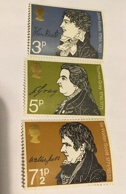 Literary Anniversaries Great Britain 1971 Commemorative Stamps