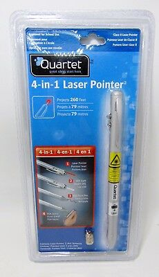 Quartet 4-in-1 Executive Laser Pointer, Projects 260 Feet, PDA Stylus, Pen, LED