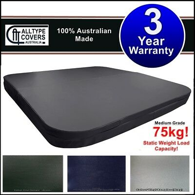 Custom Australian Made SQUARE WITH CURVED CORNERS Hard Outdoor Spa Hot Tub Cover