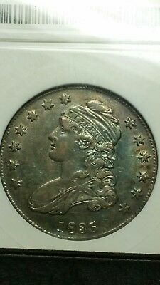 1835 50C Toned Capped Bust Half Dollar