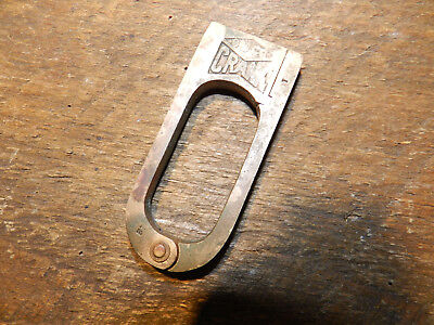 Antique Slaymaker Barry Lock Co CRANK Lever Push Key Padlock SBCo