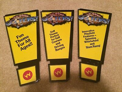 Williams Pinball No Good Gofers Trade Show signs - FREE SHIPPING