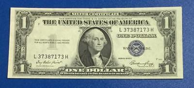 1935E $1 Blue Choice XF SILVER Certificate X173 Old US Paper Money Currency
