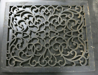 Large Antique Rectangular Cast Iron Flooring Grate Heating Register Victorian