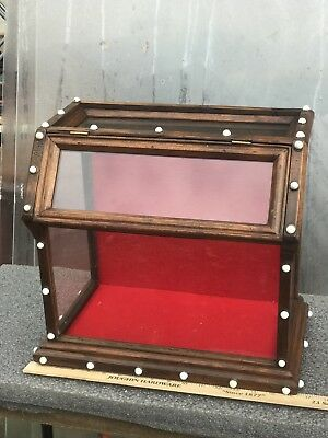 Victorian Small Tabletop Display Cabinet Store Cigar Store Other