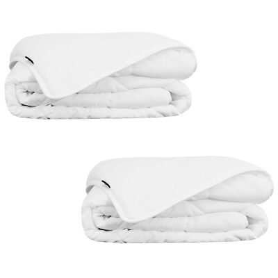 vidaXL 2 pcs Summer Bedroom Sleeping Bed Duvet/Quilt with Single Layer White