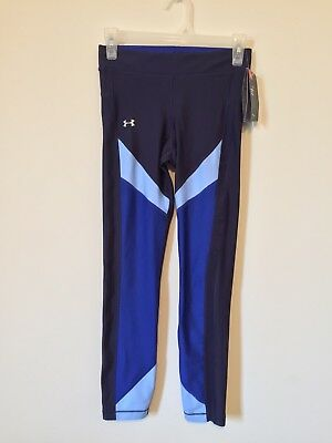 NWT UNDER ARMOUR Heatgear navy blue Women's SMALL compression Athletic leggings