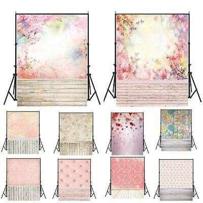 3x5ft/5x7ft Backdrop Romantic Photography Background Studio Photo Pink Patterns