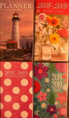 2018-2019 Monthly Planner Flowers, Floral, Lighthouse or Dots