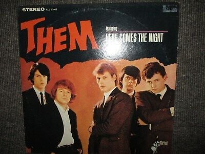 "LP     THEM    featuring ""Here comes the night"", US Pressung ( Rarität, 1965 )"