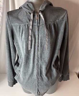 Oh Baby By Motherhood Womens Size Med Gray Zip up Hoodie Sweat Jacket