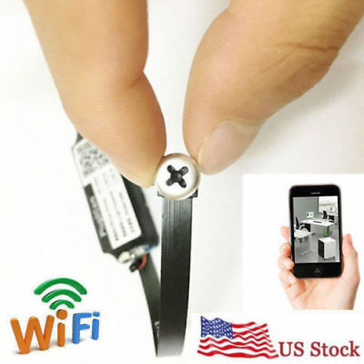 NEW wireless network WIFI IP HD mini DIY spy hidden pinhole camera DVR recorder