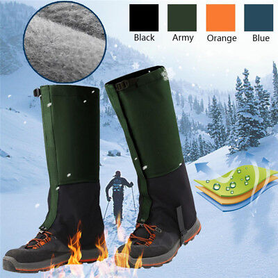 1 Pair Adult Outdoor Hiking Hunting Snow Snake Waterproof Boots Legging Gaiters