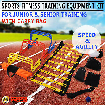 Multi Sports Fitness Training Equipment Kit Set New Hurdles Coordination