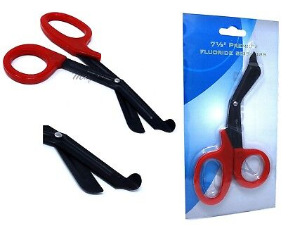 Heavy Duty Military style Trauma EMT/Paramedic Shears RED NON STICK