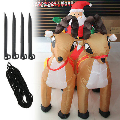Led Inflatable Santa & Reindeer Sleigh Christmas Outdoor decoration Light 2.1M