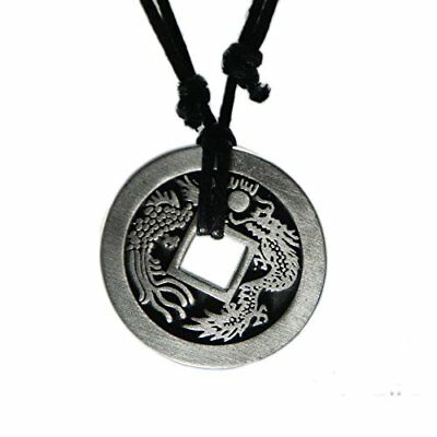 Exoticdream Feng Shui Chinese Lucky Dragon / Peacock Coin Necklace Casino Pok...