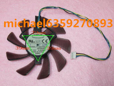 For 85mm ASUS GTX 460 560 HD 6790 6870 Fan 39mm 4Pin T129215SU 12V 0.50A @Z62