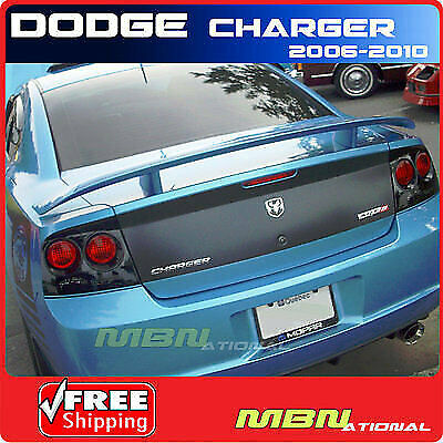 2011-2017 Dodge Charger Rear Trunk Spoiler Painted ABS PBX JAZZ BLUE PEARL
