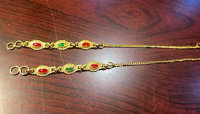 "beautiful PAIR OF fashion hanger for heavy ear rings"" tana""  gold plated new"