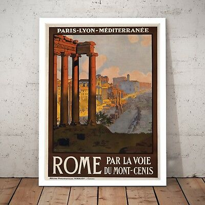 Vintage Rome Vintage Italy Travel Tourism Art Poster Print - A4 to A0 Framed