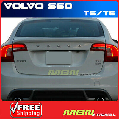 For 2017 Volvo S60 492 Saville Gray Metallic Painted Abs Rear Trunk Spoiler