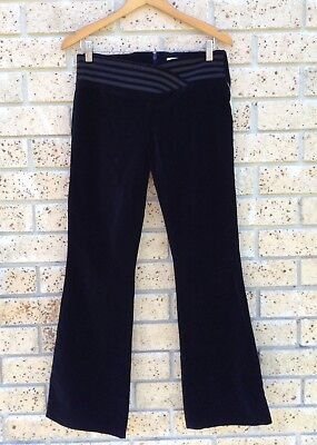 J-Lo By JENNIFER LOPEZ Size 8 Designer Black Velvet Pants Low Rise Dance Flares