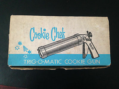 Vintage Cookie Chef Trig-O-Matic Cookie Gun Press Pastry Decorator