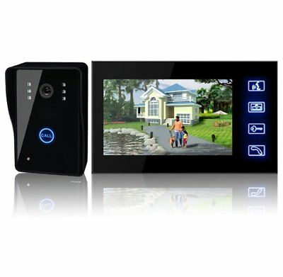 7Inch Touch LCD Wireless Video Home Door Phone Doorbell Intercom System CCTV AT