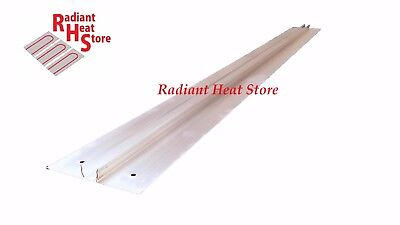 "(20) Extruded Aluminum Snap-In 1/2"" Pex Radiant Floor Heat Transfer Plates 4'"